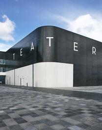 Kungsbacka Teater, fasad. Anna von Brömssen