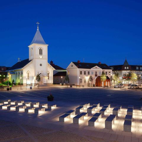 Bild på Kungsbacka kyrka