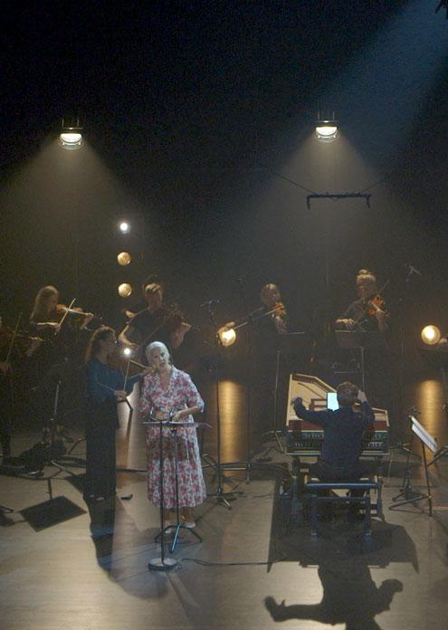 Från filminspelning i Kungsbacka med Ann Sofie von Otter